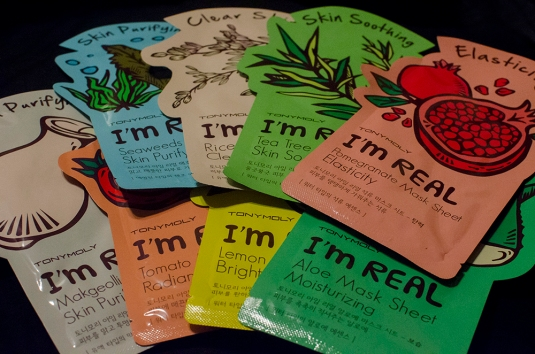 makeup inventory tonymoly masks