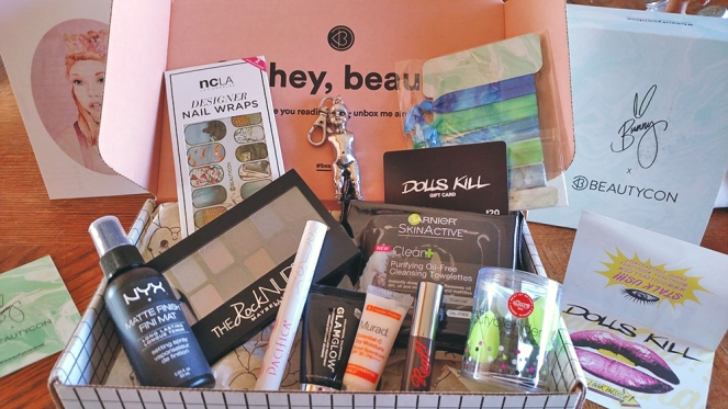 beautycon spring 2016 unboxing