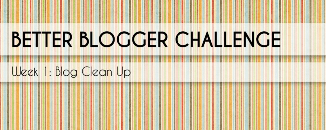 Better Blogger Challenge Week 1 - Blog Clean Up - What widgets are wasting your readers time and your valuable blog space