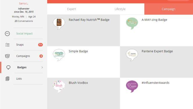 Influenster How To Get A VoxBox Campaign Badges