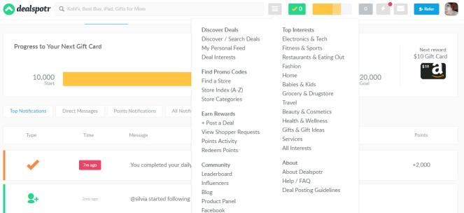 DealSpotr is so easy to navigate, it's hard not to find deals!