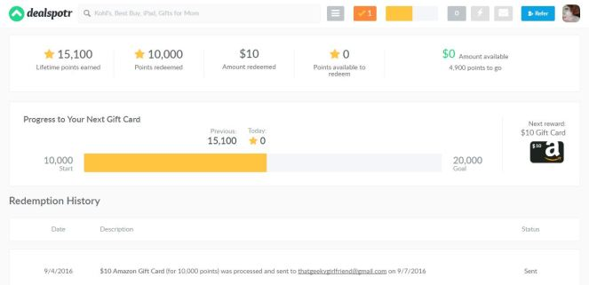 Earn cash & gift cards online through DealSpotr
